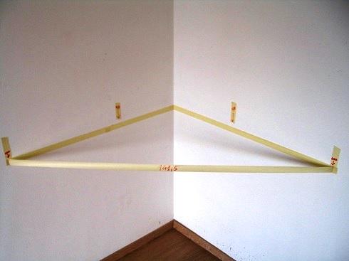 visualizzazione del triangolo 100 x 100 x 141,5, corrispondente allo squadro-falegnamepadova.altervista.org